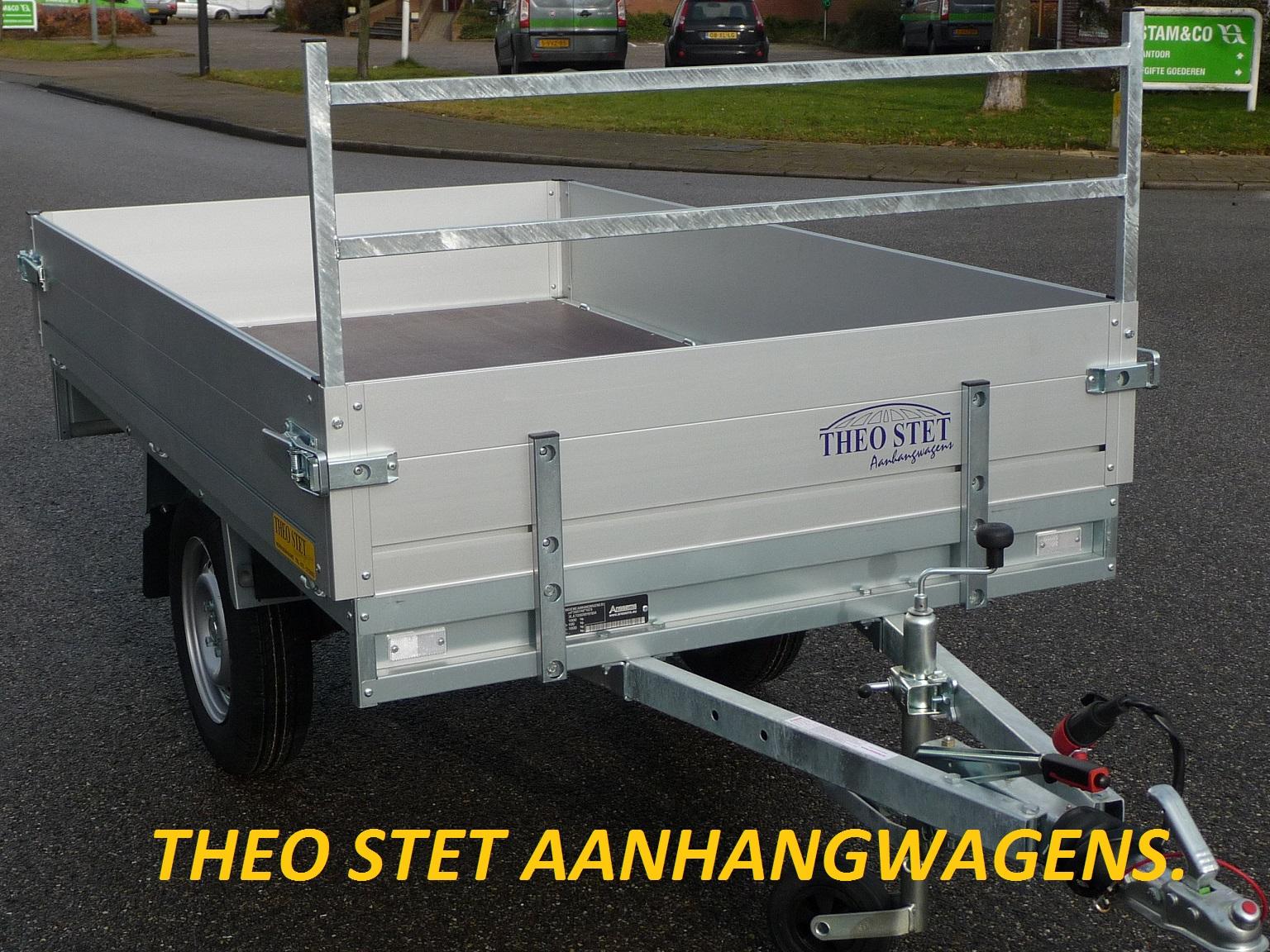 Enkelas plateauwagen 1000 kg