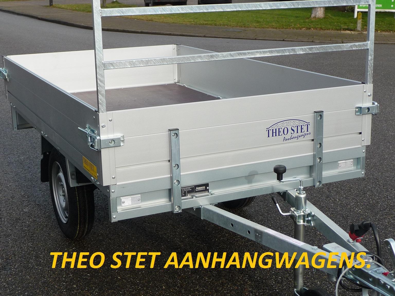 Enkelas plateauwagen 750 kg
